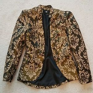 H&M  black and tan brocade jacket